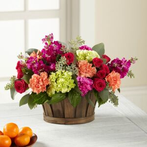The FTD New Sunrise Bouquet - BASKET INCLUDED