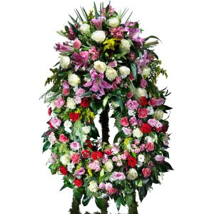 Multicoloured Classic Wreath with headboard